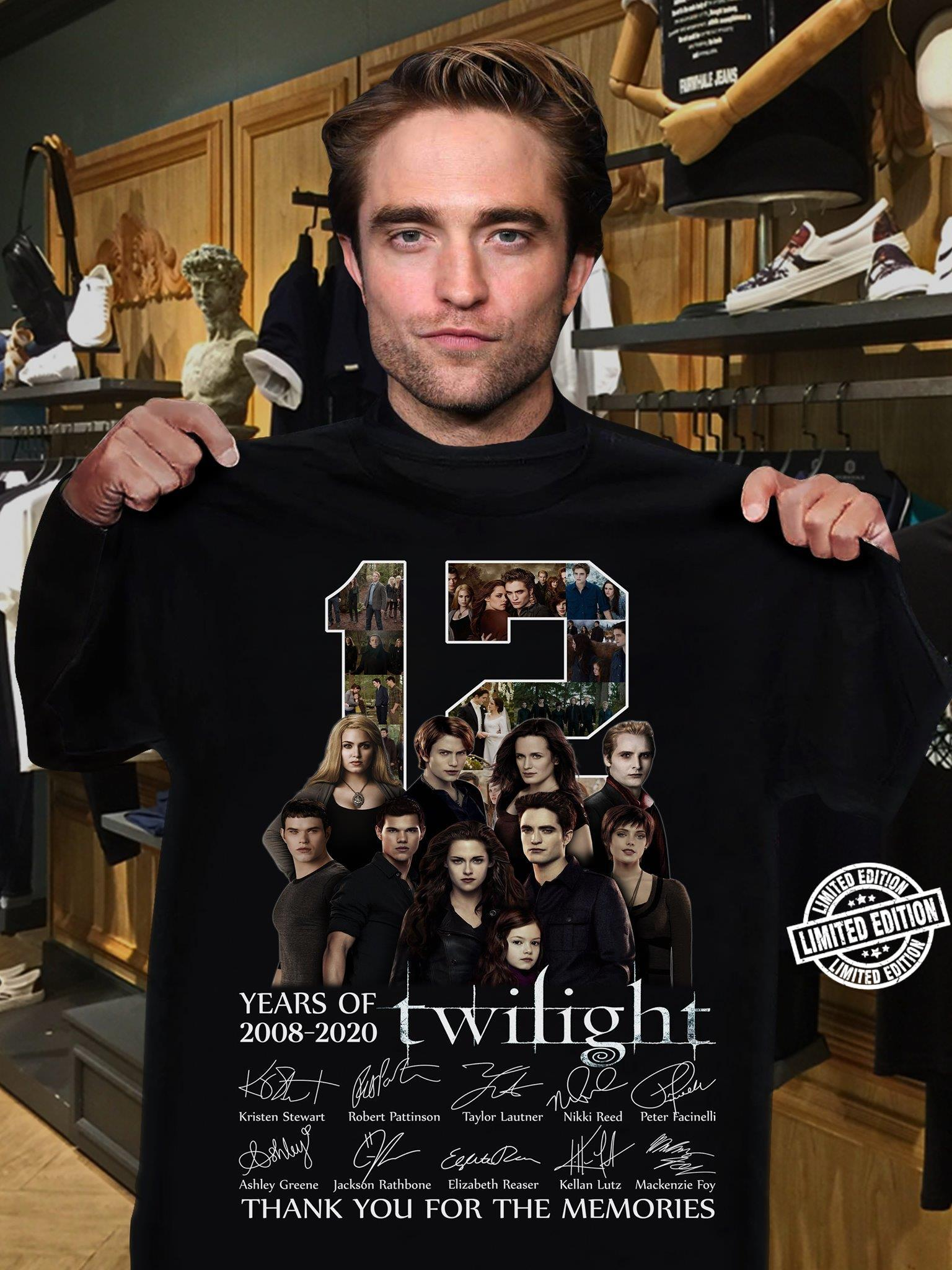 12 years of Twilight 2008 - 2020 thank you for the memories shirt