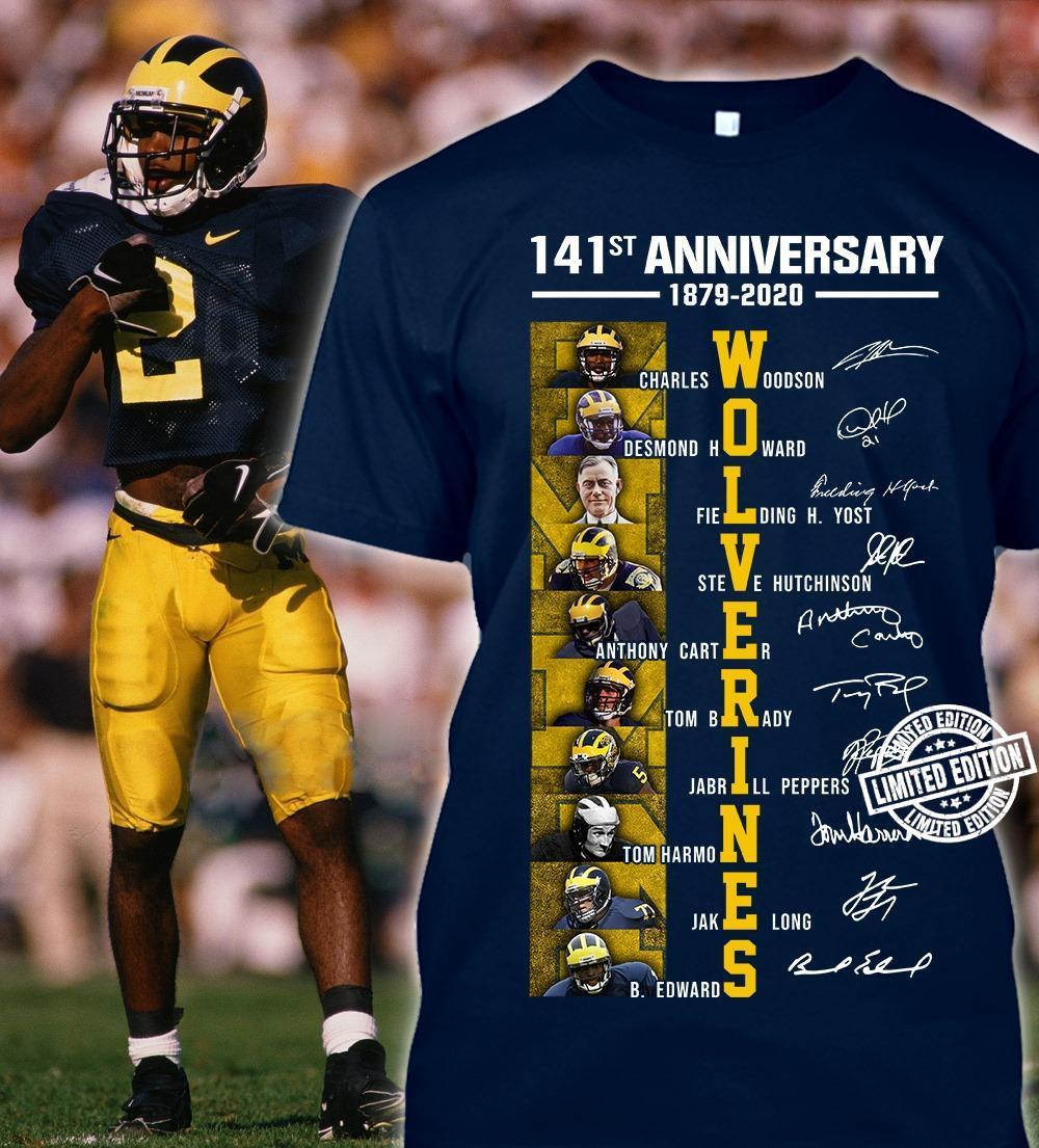 141st anniversary 1879-2020 Wolverines shirt