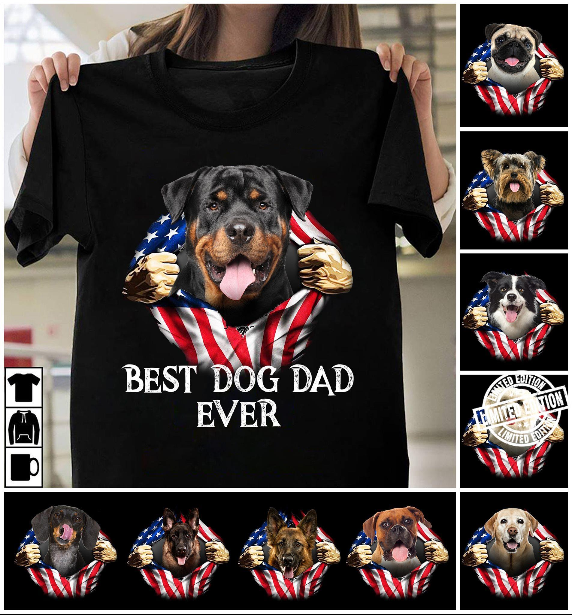 4th of july best dog dad ever shirt