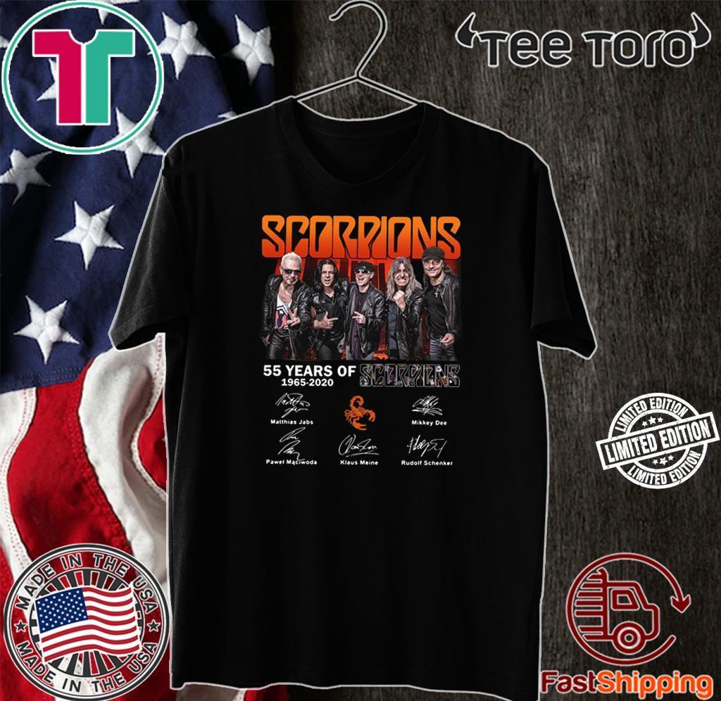 55 years of Scorpions 1965 2020 signatures shirt