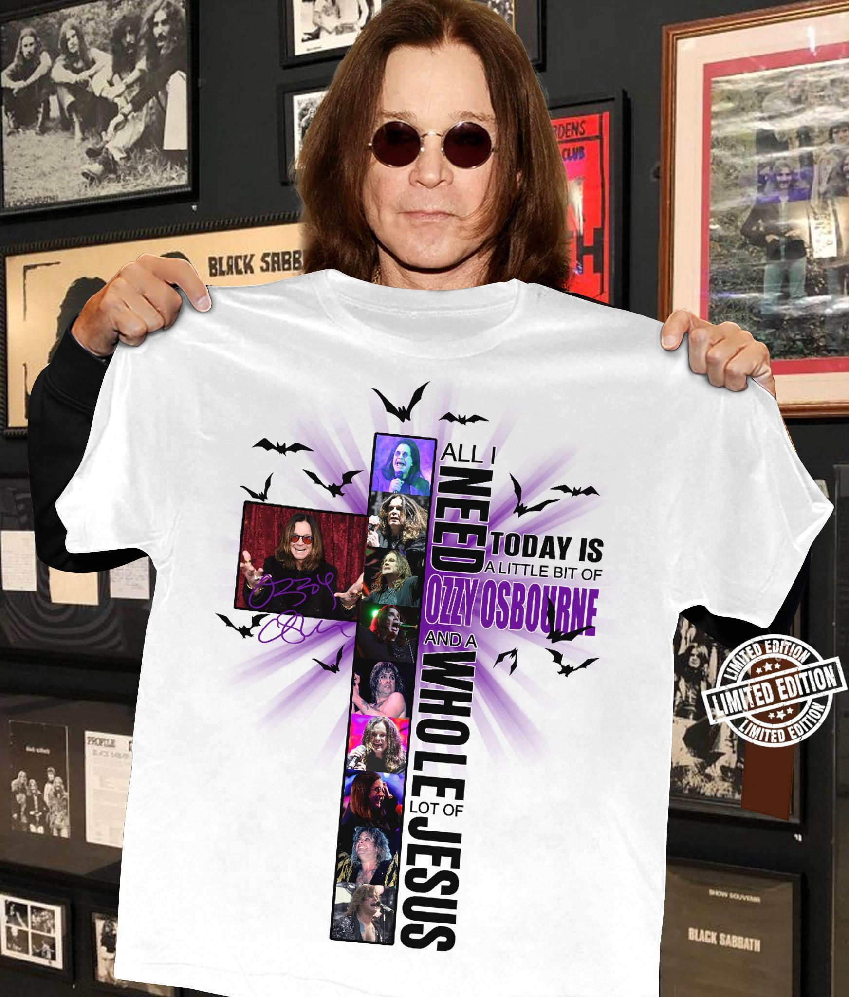All I need today is a little bit of ozzy osbourne and a whole lot of jesus shirt