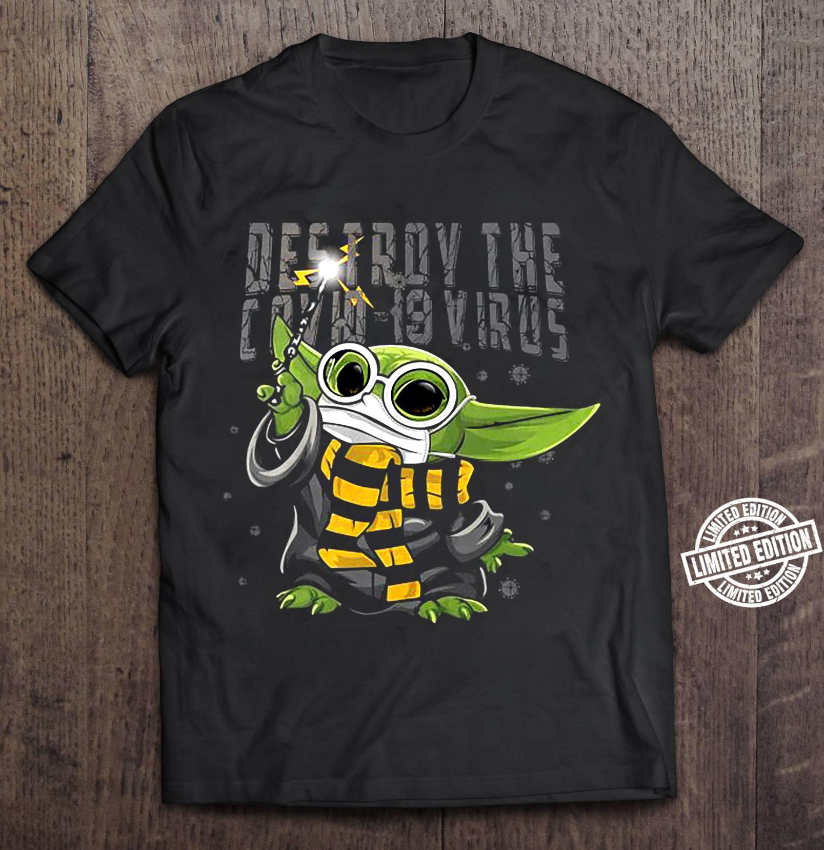 Baby Yoda Destroy the covid-19 virus shirt