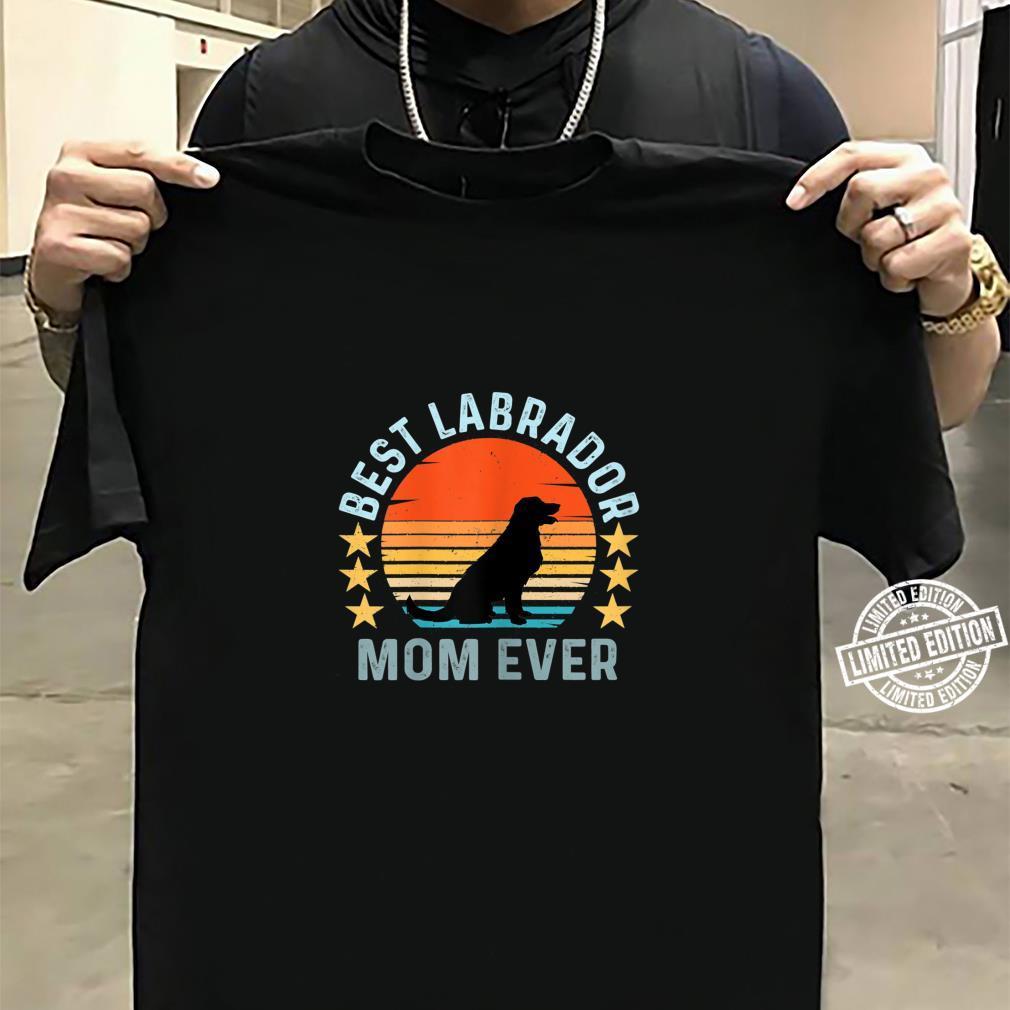 Best Labrador Mom Ever Vintage Retro Dog Shirt sweater
