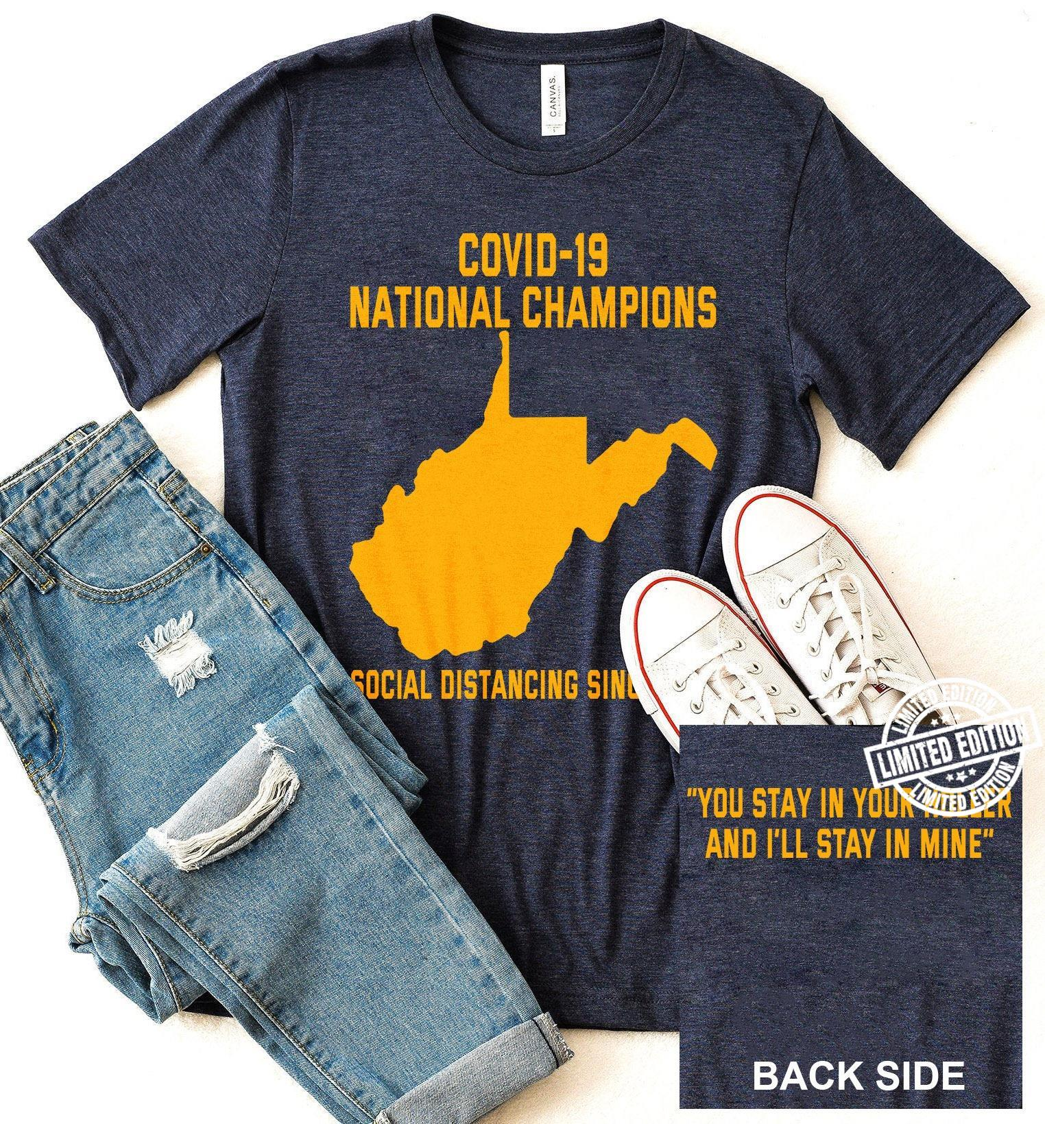 Covid-19 national champions social distancing shirt