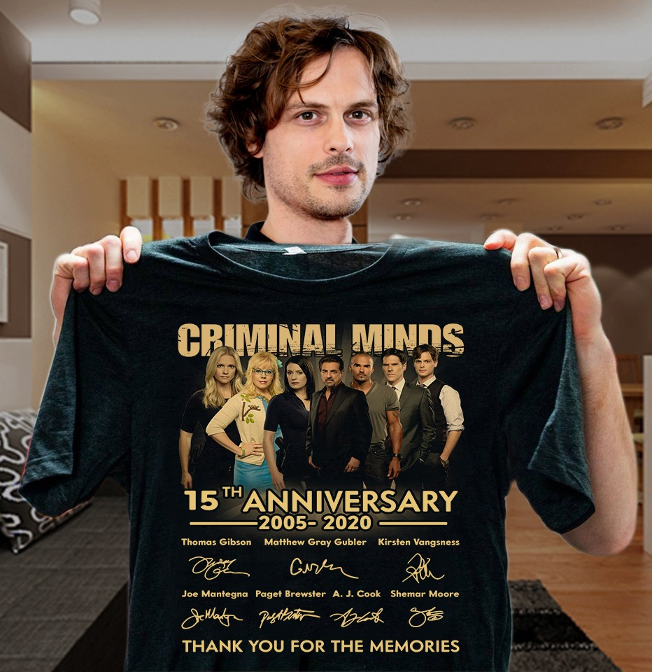 Criminal minds 15th anniversary 2005-2020 signature shirt